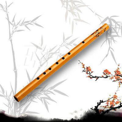 Traditionelle 6-Loch-Bambus-Flöte Klarinette Musikinstrument Holz Farbe CMZP
