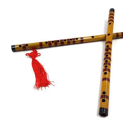Traditionelle lange Bambus Flöte Klarinette Student Musikinstrument 7 Loch XJ