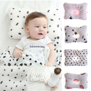 Newborn Infant Baby Pillow Prevent Anti Roll Flat Head Neck Cushion Pillow newEP