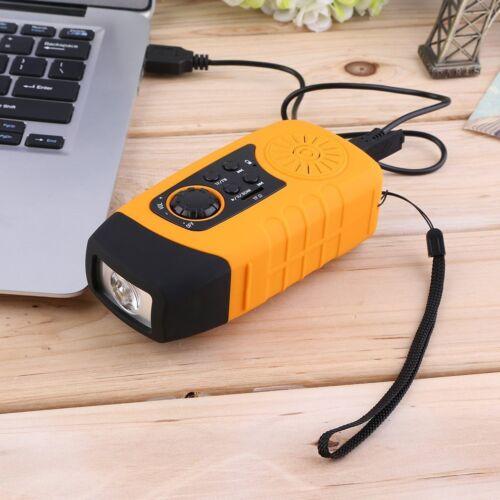 Kurbelradio AM FM Radio Taschenlampe Solarradio USB MP3 tragbar UKW MW TUNER DHL