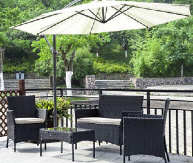 New Patio Wicker Furniture Outdoor Pc Rattan Sofa Garden Conversation Set