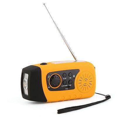 Kurbelradio AM FM Radio Taschenlampe Solarradio USB MP3 tragbar UKW MW TUNER#ZN