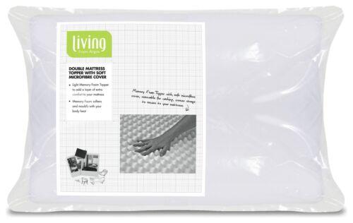 Living Profile Memory Foam Mattress Topper Choice Of Single Double Kingsize