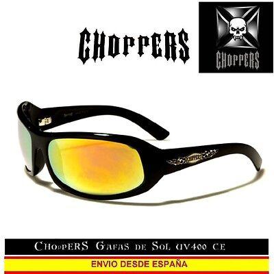 CHOPPERS Gafas de Sol UVAB para Moto Custom Biker Sunglasses Occhiali Lunettes