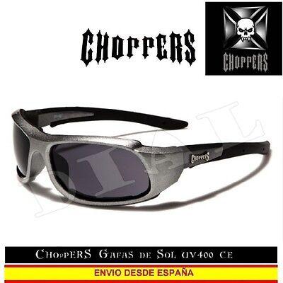 Choppers Gafas de Sol CE UVAB Acolchado moto custom occhiali lunettes sunglasses
