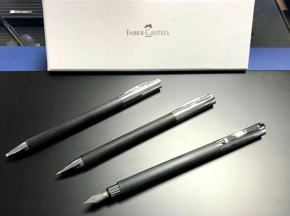 Faber-Castell Ambition Schwarz Füllfederhalter M Kugelschreiber Bleistift