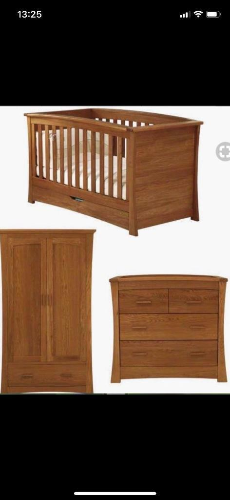 mamas and papa cot bed chest of drawers wardrobe Cot Bed And Chest Of Drawers Set id=52886