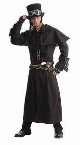 Steampunk Duster Costume Coat Long Black Victorian Goth 66150