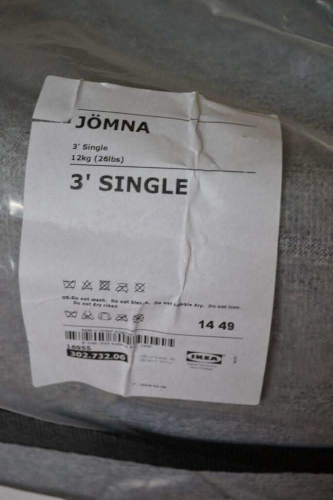 Ikea Jomna Single 3 Mattress Will Fold Roll Barely Used