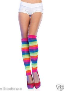Ultra Neon Leg Warmers 1980s Costume Leg Warmers Rainbow Colors SALE 3981