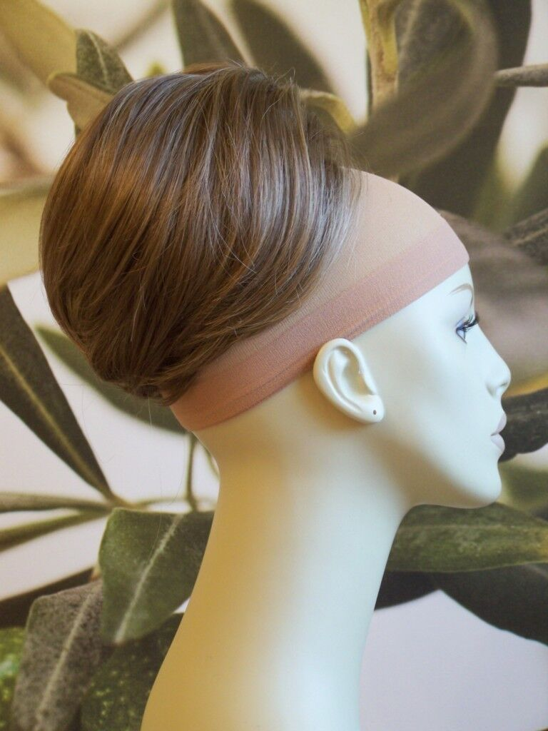 MEDIUM BROWN WITH HIGHLIGHTS BEEHIVE BUN HAIR PIECE