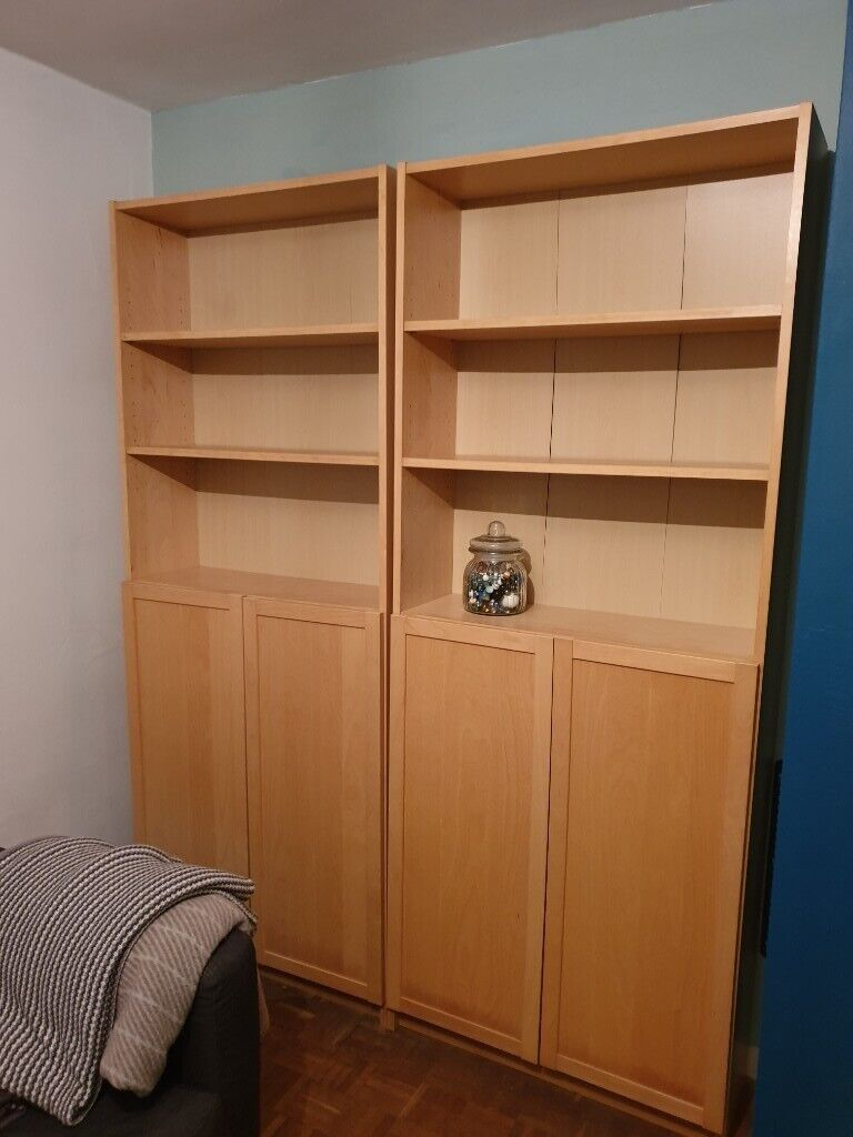 Ikea Billy Bookcases With Half Doors Light Wood Effect Chelmsford In Chelmsford Essex Gumtree