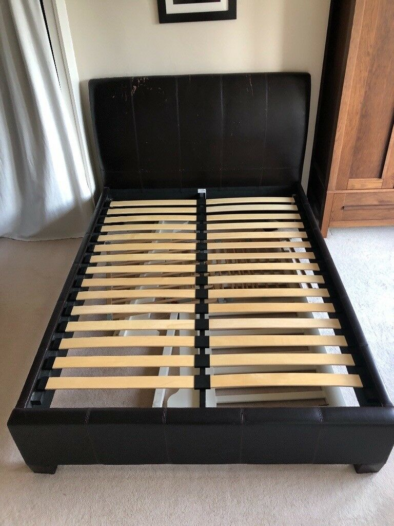 sold no longer avail leather bed with sprung slats on Double Bed Slats id=75878
