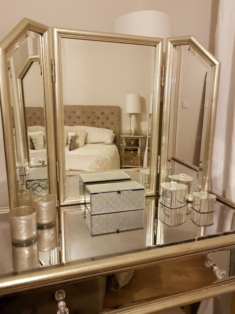 NEXT mirrored glass bedroom furniture incl. Chest, 2 ... on Mirrors Next To Bed  id=77772