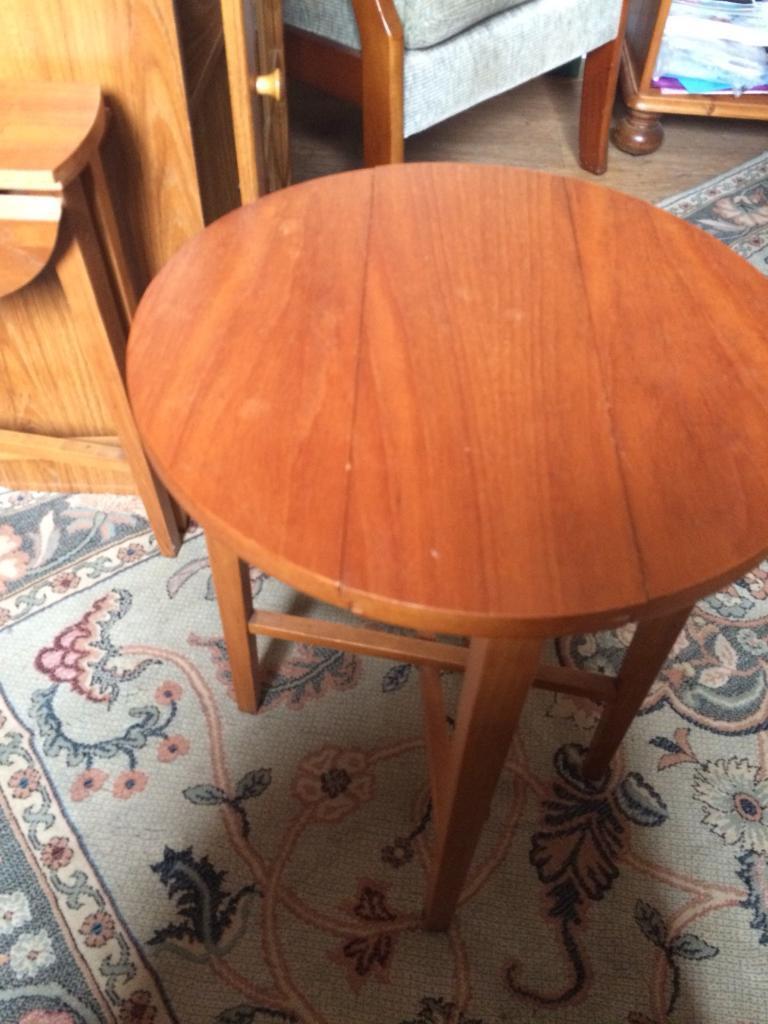 two circular folding tables in cwmavon neath port Circular Folding Dining Table id=84677