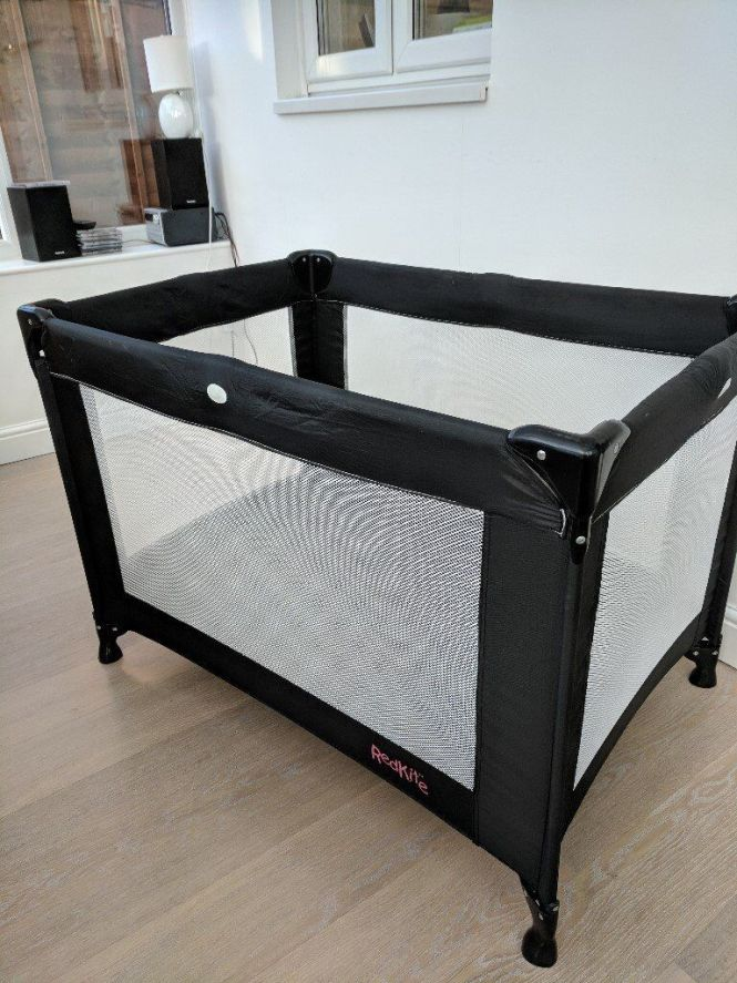Red Kite Folding Travel Cot With Spare Foam Mattress