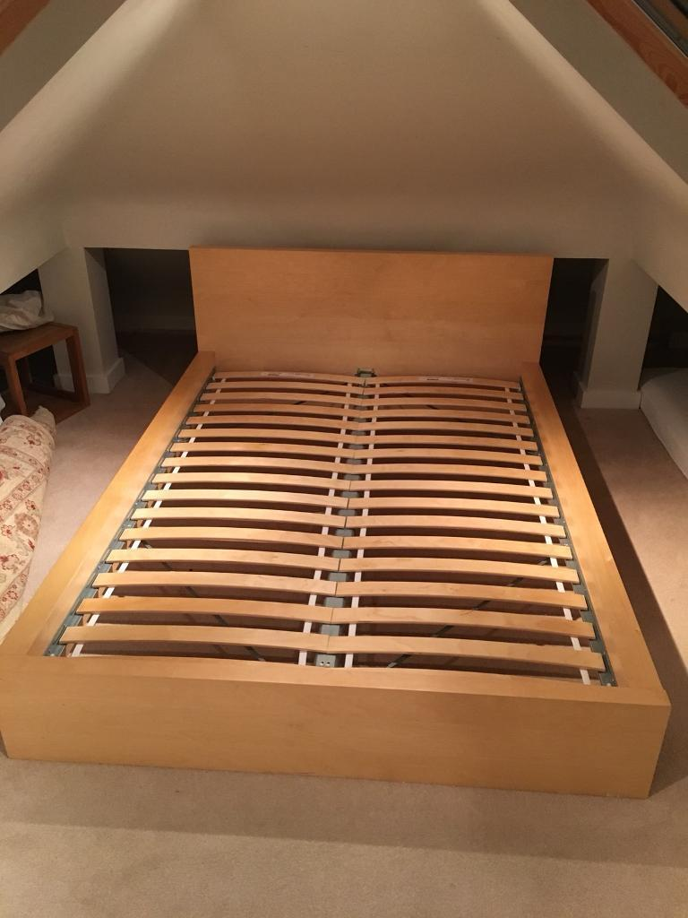 ikea malm bed frame amp slats low bed in ealing Double Bed Slats id=91940