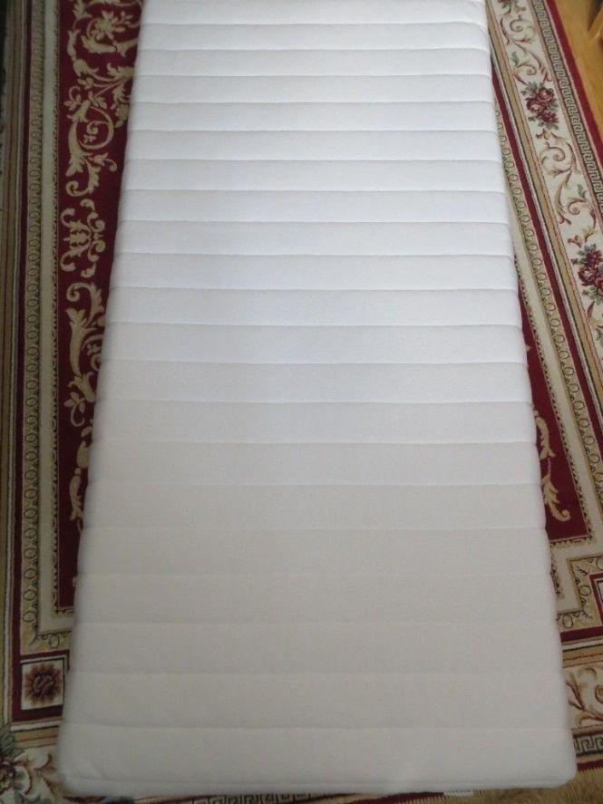 Ikea Sultan Flataker White Single Memory Foam Mattress Washable Cover