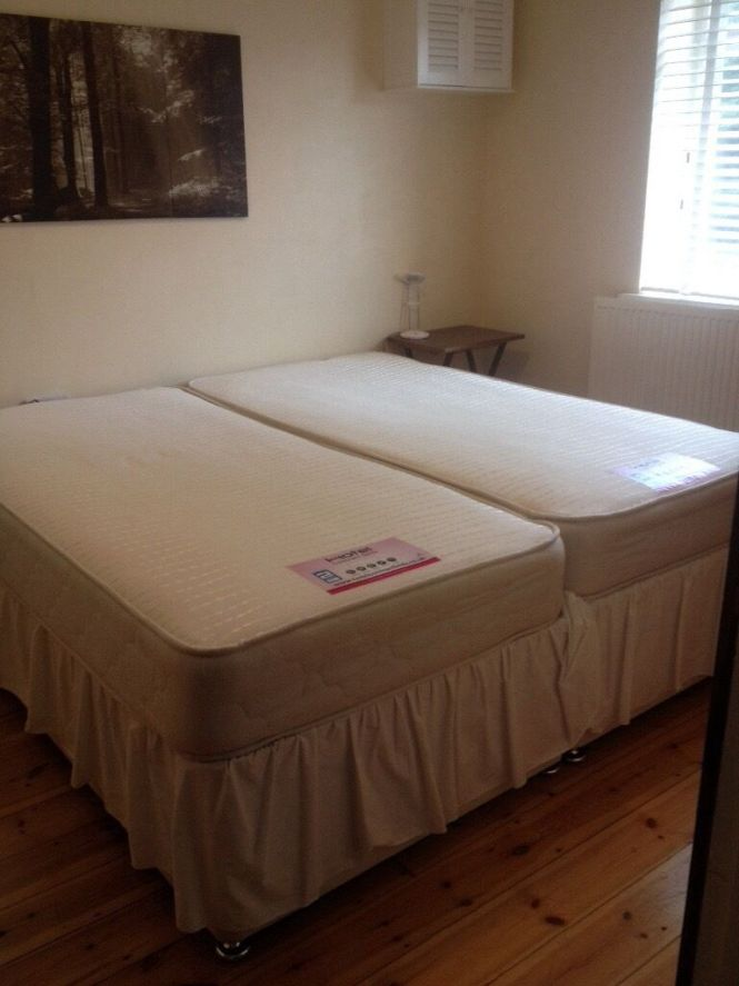 Super King Size Two Single Zip Link Beds