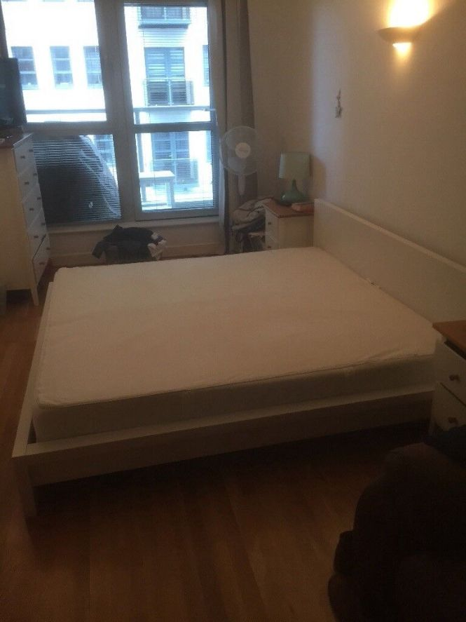 Ikea Super King Malm Bed And Sultan Flokenes Mattress