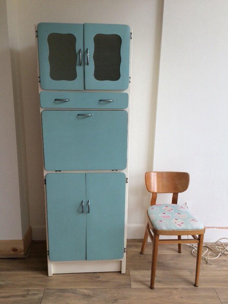Original Vintage Slimline Kitchen 1950s 1960s Larder Unit