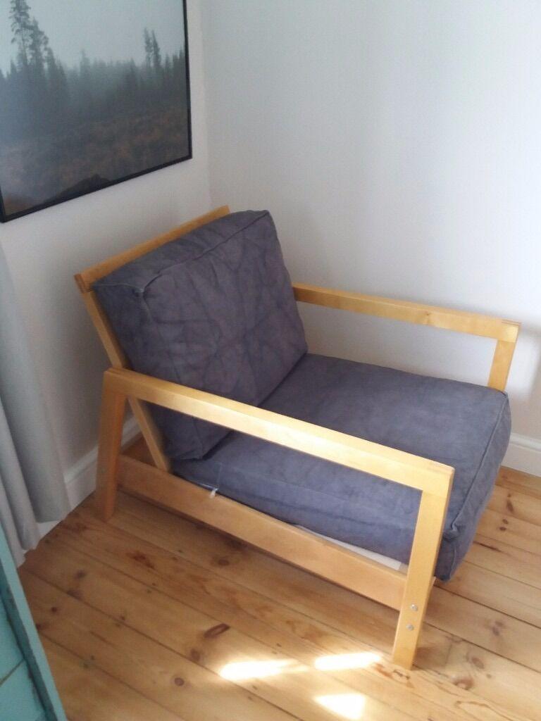 Ikea Reclining Armchair Wooden Chair In Attleborough