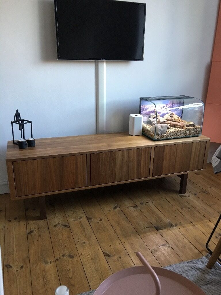 IKEA STOCKHOLM TV Unit Walnut Veneer Excellent Condition