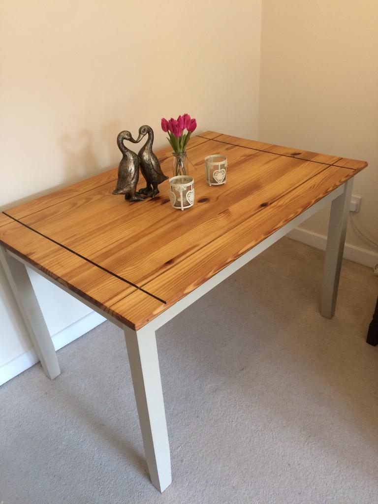 mexican pine dining table hand painted in stowmarket on hand painted dining room tables id=13291