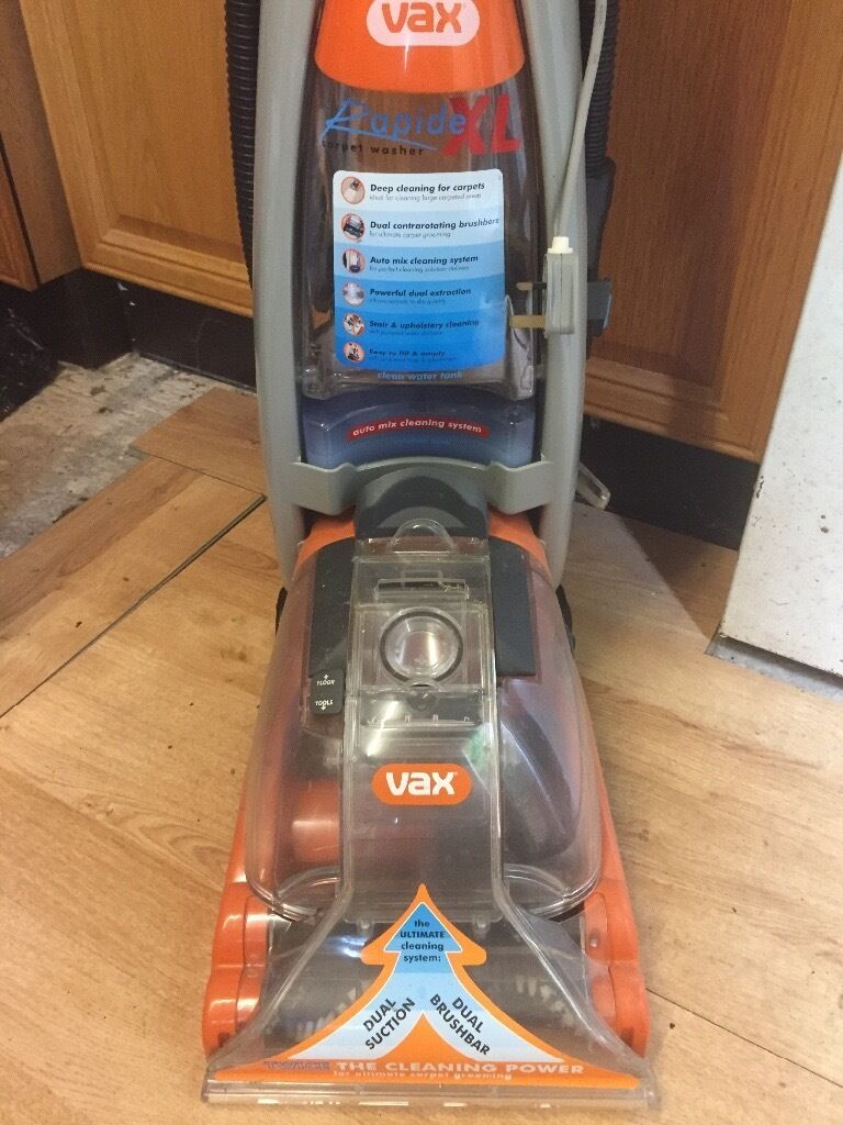 Vax Rapide Deluxe V 026rd Carpet Washer Instructions
