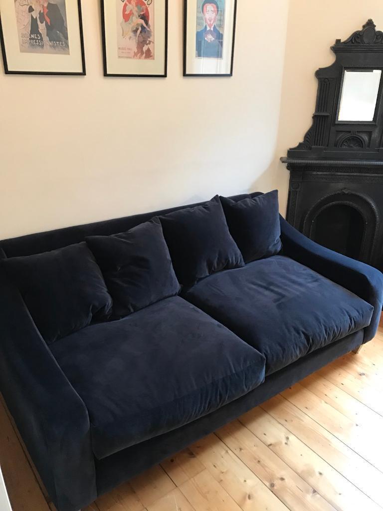 Navy Blue Velvet Sofa Bed Www Energywarden Net ~ Midnight Blue Velvet Sofa