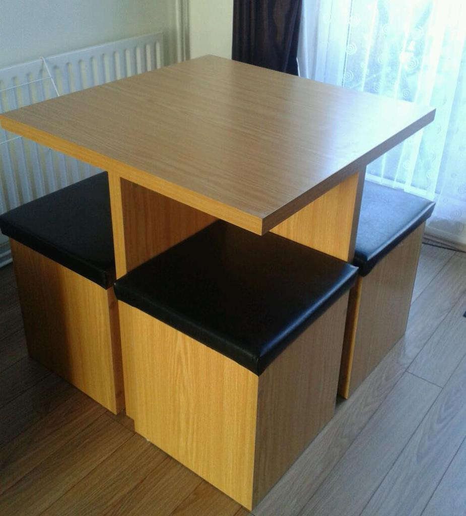 Space Saving Table With Storage Stools In Coventry West