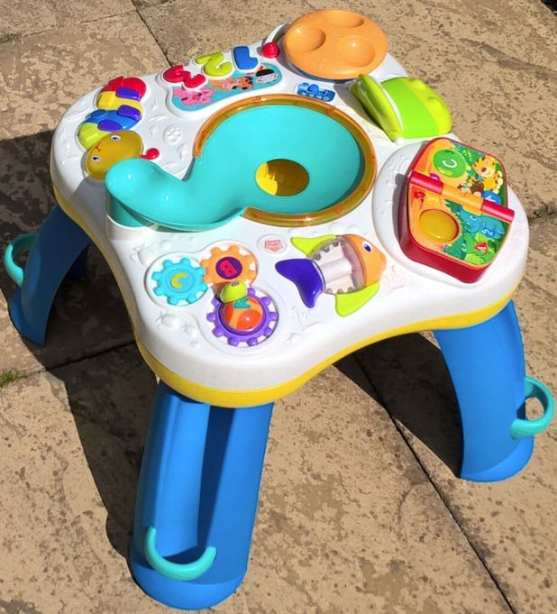 bright starts having a ball activity table. Black Bedroom Furniture Sets. Home Design Ideas