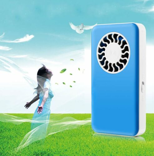 Mini USB Fan Taschenventilator Handventilator akku Ventilator mit Batterie Blue