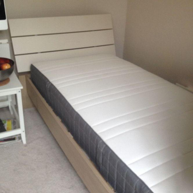 Single Bed Homebase And Mattress Ikea