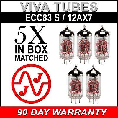 New Gain Matched Quintet (5) JJ Electronics Tesla 12AX7 ECC83-S Vacuum Tubes