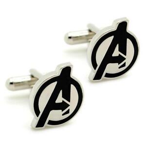 AVENGERS CUFFLINKS Super Hero Marvel Comic w GIFT BAG Pair ...