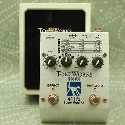 KORG TONEWORKS 411FX Super Multi FX With original box Guitar effect pedal 009282