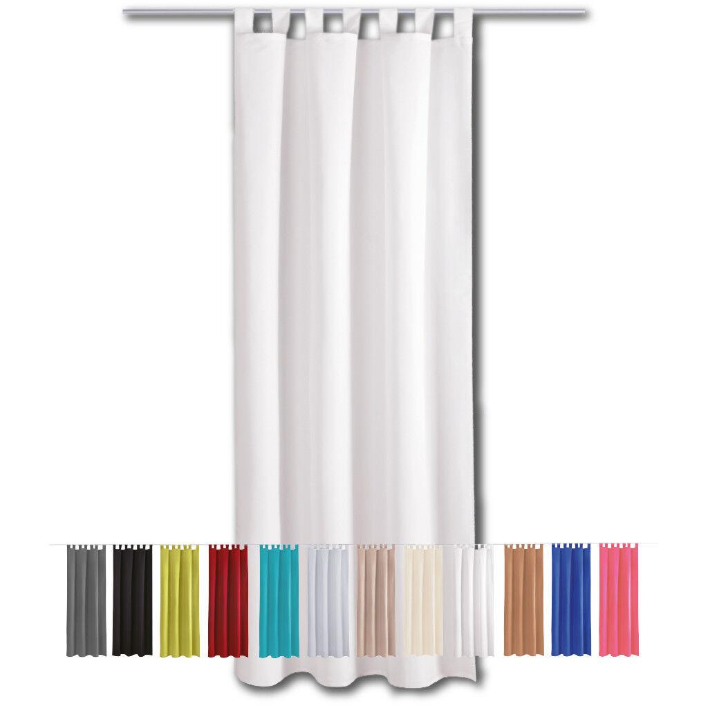 Gardine Blickdicht Schlaufen Vorhang Schlaufenschal Gardinen Vorhänge Dekoschal