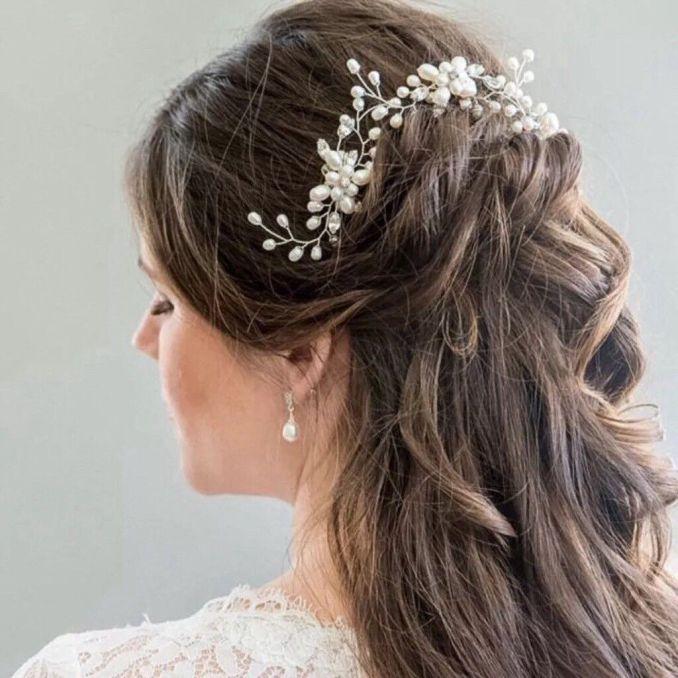pretty bridal wired pearl flower hair pins / hair vine / bridesmaid hair accessory | in clevedon, somerset | gumtree