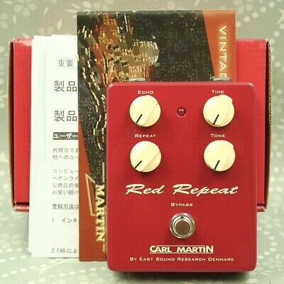 Carl Martin Red Repeat With original box Delay Echo Guitar effect pedal