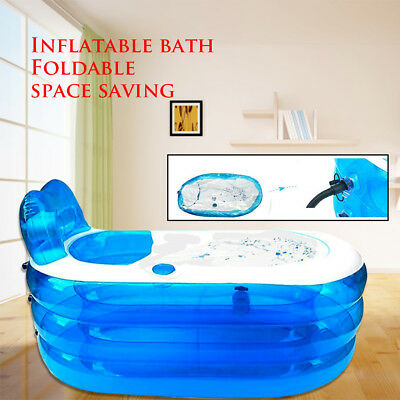 Aufblasbare Badewanne Pool SPA Blaue Badewanne 150 * 85 * 70 cm wasserdichte