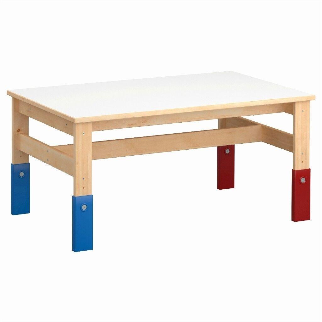 IKEA Sansad Childrens Kids Height Adjustable Table In