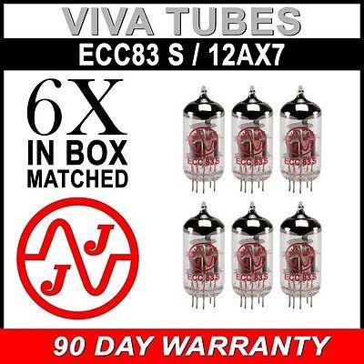 New Gain Matched Sextet (6) JJ Electronics Tesla 12AX7 ECC83-S Vacuum Tubes