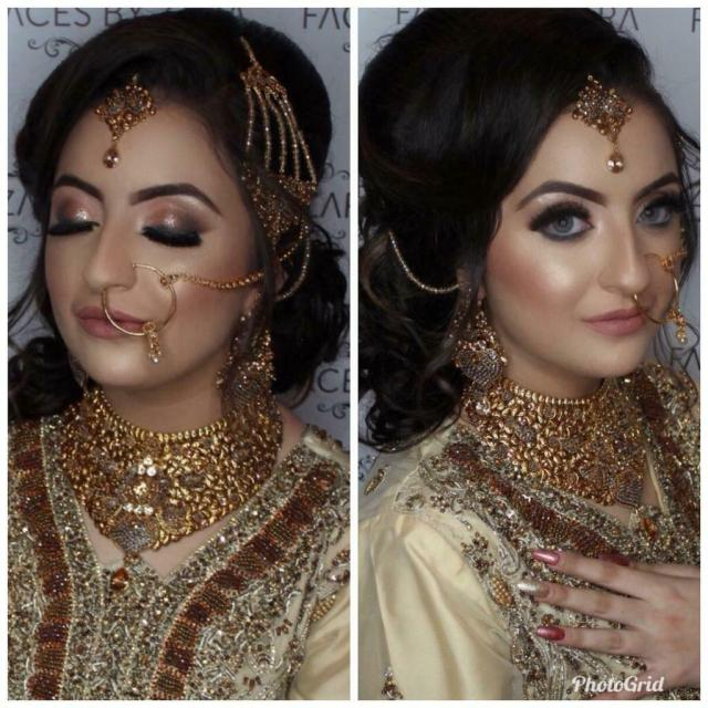 asian bridal party hair and makeup artist. party make up and
