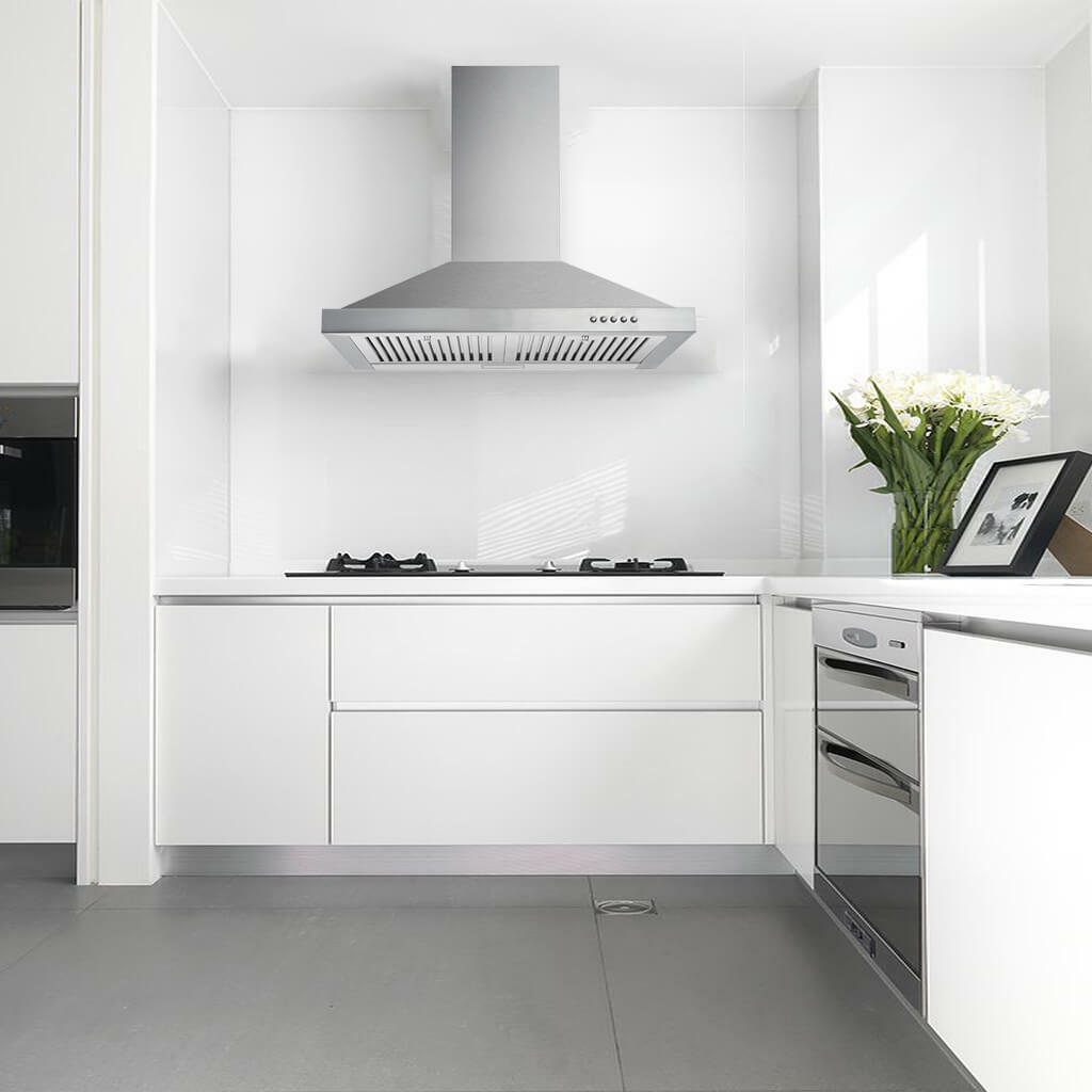 Ge Pvw7301 350 Cfm 30 Inch Wide Wall Mounted Range Hood With Glass Canopy And For Sale Online Ebay