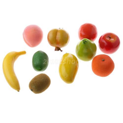 Künstliche Deko Kunstobst Kunstgemüse künstliches Obst 10 versch Obst