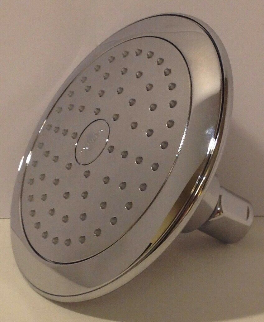 Kohler Shower Head Round Rain Spray Bathroom Fixed Showerhead Polished Chrome