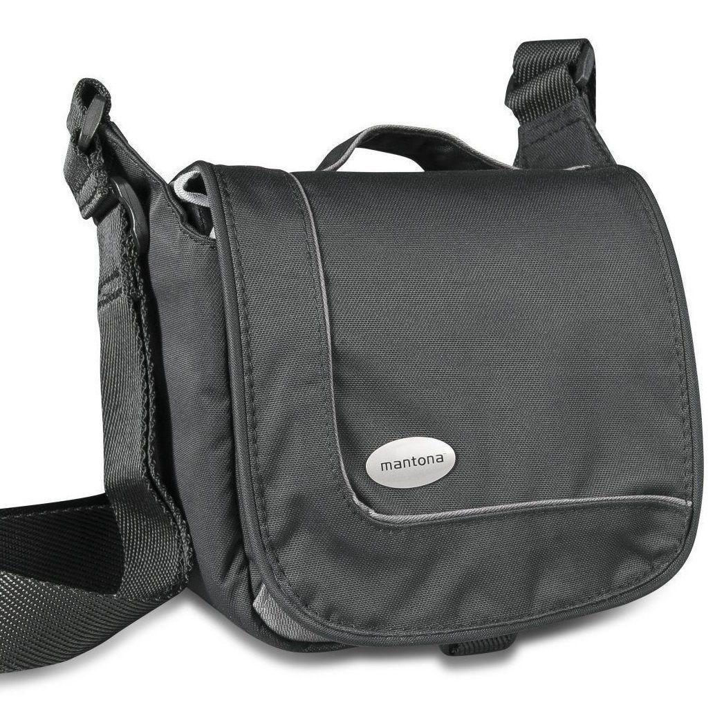 Mantona Sports Bag SLR-Kameratasche schwarz für Bridge Kamera Neu