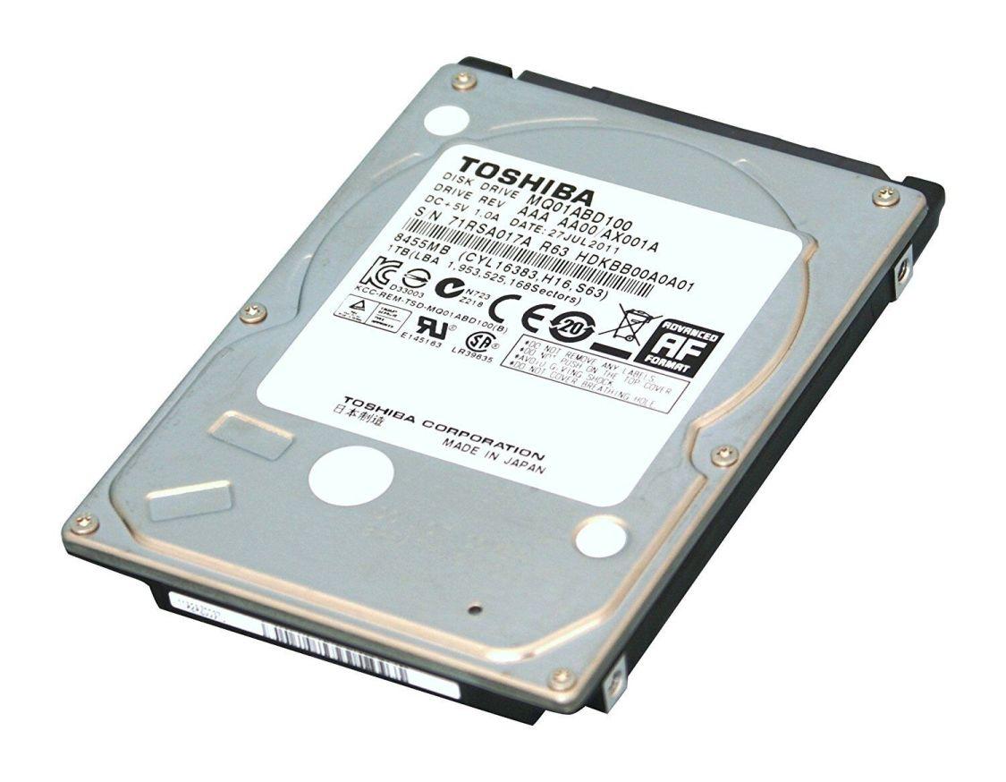"FESTPLATTE 1TB TOSHIBA interne SATA2 MQ01ABD100M - 6,4 cm 2,5"" HDD"