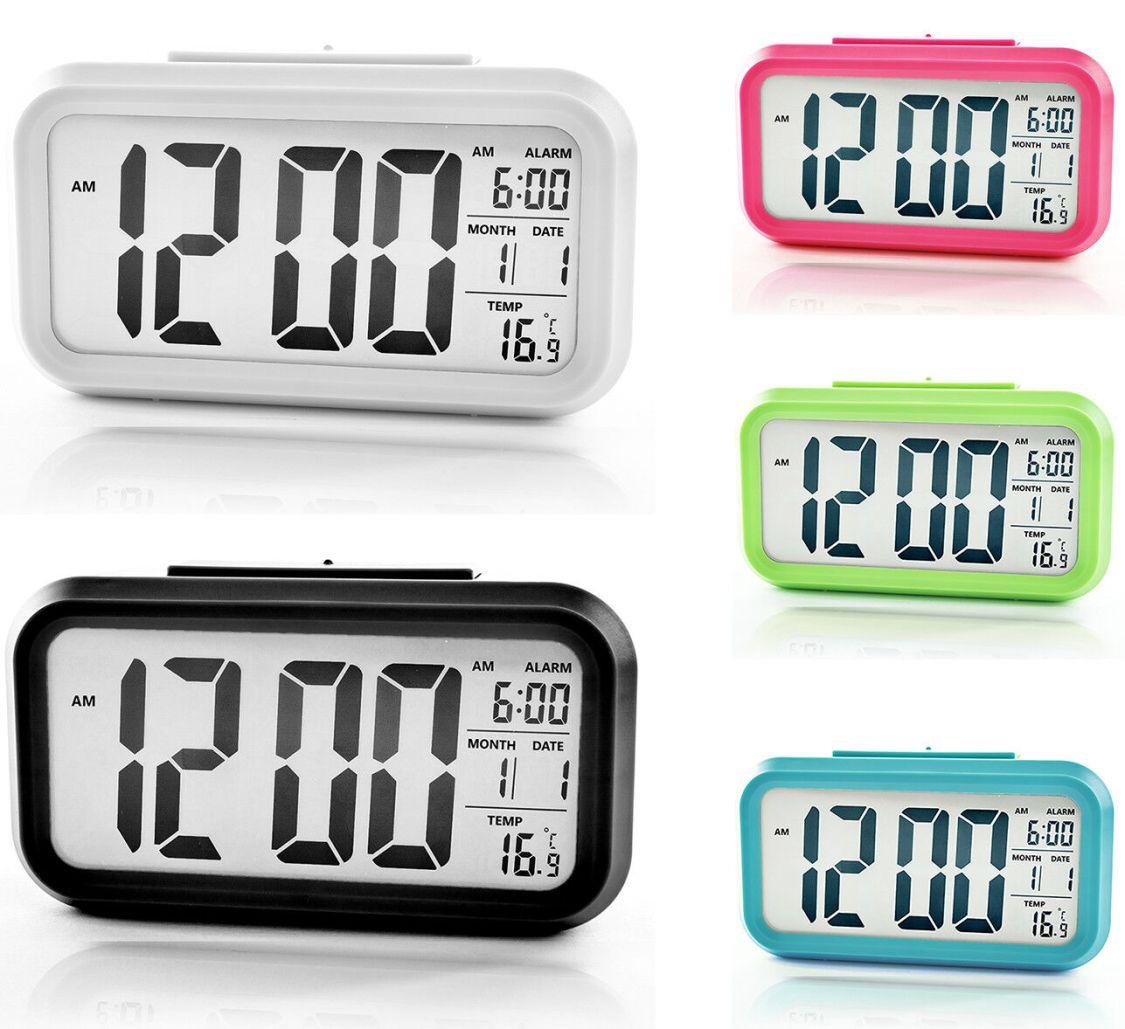 LED Wecker Digital Alarmwecker Uhr Kalender Beleuchtet Schlummerfunktion Alarm